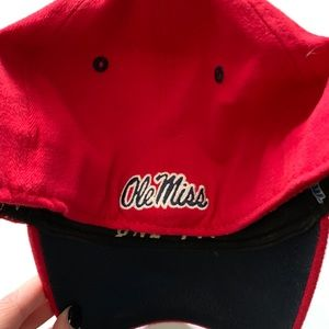 Top of the World Accessories - Ole Miss red baseball cap one fit